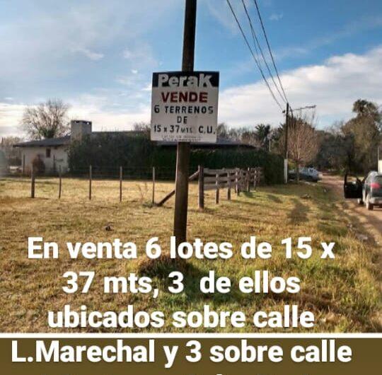 En venta lotes de terrenos, c/u de  600 mts2 aprox. FINANCIADOS!!